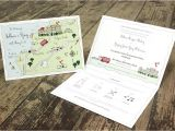 Map Cards for Wedding Invitations Illustrated Map Wedding or Party Invitation by Cute Maps