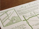 Map Cards for Wedding Invitations Lead the Way to Your Wedding with Maps Letterpress Maps