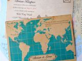 Map Cards for Wedding Invitations Vintage Map Wedding Invites Wedfest