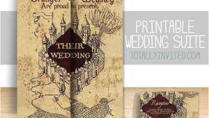 Marauders Map Wedding Invitation Template Custom Harry Potter Inspired Marauders Map Wedding