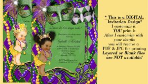 Mardi Gras Baby Shower Invitations Mardi Gras Baby Shower Invitation Baby Shower Mardi Gras