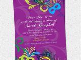 Mardi Gras Bridal Shower Invitations Bridal Shower Invitation Printable Mardigras by Ohcreativeone