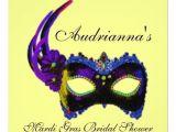 Mardi Gras Bridal Shower Invitations Bridal Shower Mardi Gras theme Invitations 4 U