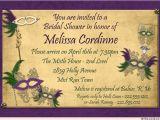 Mardi Gras Bridal Shower Invitations Masquerade Bridal Shower Invitation Purple Mardi Gras