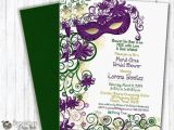 Mardi Gras Bridal Shower Invitations This is A Custom Masquerade or Mardi Gras Party Invitation