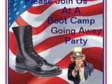 Marine Going Away Party Invitations Marine Boot Camp Going Away Party Invitation Bryan L