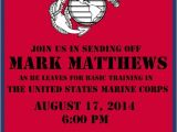 Marine Going Away Party Invitations U S Marine Corps Send Off Party Invite Diy Budget