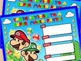 Mario Birthday Invitations Free Free Printable Super Mario Bros Birthday Party Invitation