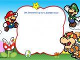 Mario Birthday Invitations Free Free Printable Super Mario Bros Invitation Template