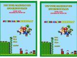 Mario Birthday Invitations Free Super Mario Birthday Invitations – Gangcraft