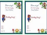 Mario Birthday Invitations Free Super Mario Birthday Invitations Super Mario Birthday