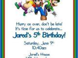 Mario Birthday Invitations Free Super Mario Brothers Personalized Birthday by