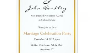 Marriage Celebration Party Invitations Post Wedding Marriage Celebration Party Invitation