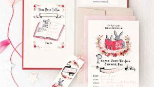 Martha Stewart Baby Shower Invitations Book themed Baby Shower Martha Stewart