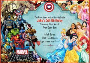 Marvel Party Invitation Template Free 18 Superhero Birthday Invitations Free Psd Vector Eps