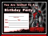 Marvel Party Invitation Template Free Free Marvel Ant Man Printable Birthday Invitation
