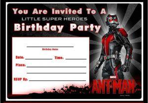 Marvel Party Invitation Template Free Free Marvel Ant Man Printable Birthday Invitation