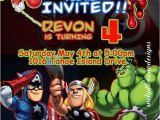 Marvel Party Invitation Template Free Marvel Avengers Birthday Invitations