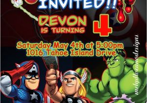 Marvel Party Invitation Template Free Marvel Avengers Birthday Invitations
