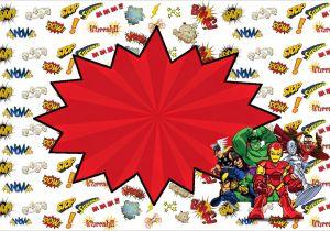 Marvel Party Invitation Template Free Marvel Superheroes Squad Free Printable Invitations Oh
