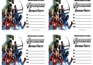 Marvel Party Invitation Template Free the Avengers Birthday Party Invitations Free Printable