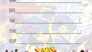 Marvel Party Invitation Template Free X Men Party Invitations