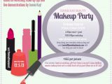 Mary Kay Cosmetics Party Invitations Makeup Party Invitation Design with Lipstick Eyeliner