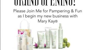 Mary Kay Launch Party Invitations Postcard Invitations for Mary Kay Business Launch