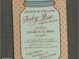Mason Jar Baby Shower Invitation Template Mason Jar Baby Shower Invitations