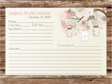 Mason Jar Bridal Shower Invitations with Recipe Cards Custom Printable Rustic Vintage Mason Jars Bridal Shower