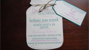 Mason Jar Invitations for Bridal Shower Mason Jar Bridal Shower Invitations with Registry by