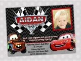 Mater Birthday Invitations Items Similar to Disney Cars Lightning Mcqueen and Mater