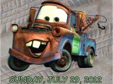 Mater Birthday Invitations Personalized Cars tow Mater Birthday Invitation by
