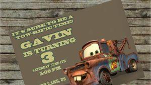 Mater Birthday Invitations tow Mater Birthday Invitation Diy Custom order