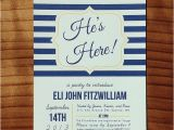 Meet the Baby Shower Invitations He S Here Baby Shower Meet and Greet Invitation