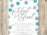 Meet the Baby Shower Invitations Meet and Greet Invitation Silver Blue Glitters Meet the
