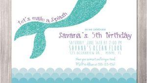 Mermaid Birthday Invitation Template Mermaid Birthday Invitation Little Mermaid Invitation