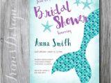 Mermaid Bridal Shower Invitations Bridal Shower Nautical Mermaid Princess Wedding Shower