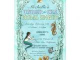 Mermaid Bridal Shower Invitations Under the Sea Mermaid Bridal Shower Invitation