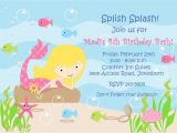 Mermaid Party Invitation Template Grooving with the Glover 39 S Madi 39 S 4th Birthday Party