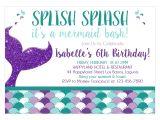 Mermaid Party Invitation Template Mermaid Birthday Invitation Diy Printable Template