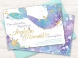 Mermaid Party Invitation Template Mermaid Invitation Mermaid Party Invite Under the Sea Party
