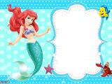 Mermaid Party Invitation Template Updated Free Printable Ariel the Little Mermaid