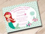 Mermaid Pool Party Invitation Wording 7 Plain Little Mermaid Party Invitation Wording Braesd Com