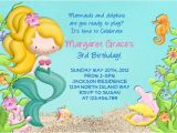 Mermaid Pool Party Invitation Wording Mermaid Birthday Party Invitation Under the Sea Birthday