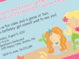Mermaid Pool Party Invitation Wording Mermaid Party Invitation Mermaid Birthday theme Mermaid
