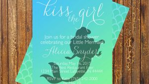Mermaid themed Bridal Shower Invitations Little Mermaid Bridal Shower Invitation by Muniqueprints