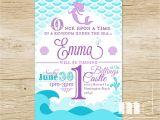 Mermaid themed Party Invitations Mermaid Birthday Party Invitation Little Mermaid Birthday