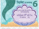 Mermaid themed Party Invitations Mermaid Birthday Party Invitation Pigskins Pigtails