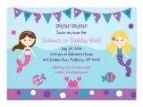 Mermaid themed Party Invitations Mermaid Birthday Party Invitations Bagvania Free